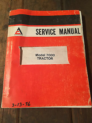 Allis-Chalmers 7000 Tractor Service Manual 1975