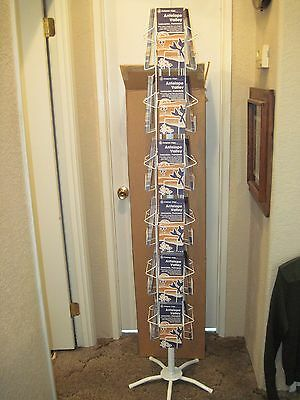 New 24 Pocket 10 Map Pamphlet Brochure Rotating Wire Floor Display 240 Total Cap