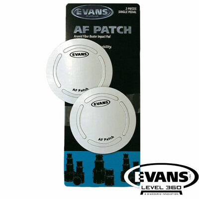 Evans AF Twin pack Bass Drum Beater Patch Protector Aramid Fiber