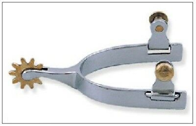 Campdraft Roper Spurs - Stainless Steel with Brass Rowel BS5904
