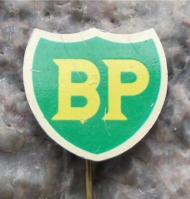 Antique BP British Petrol Oil Gas Energy Company Vintage Shield Logo Pin Badge