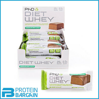 PHD DIET WHEY BARS 12 X 50 Gram Protein Weight Loss AMAZING PRICE