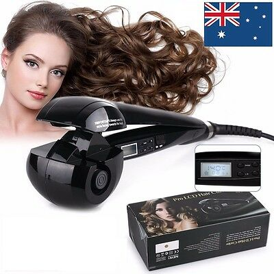 PRO Perfect LCD Automatic Anion Hair Curler Curling iron Roller Styling AU Plug
