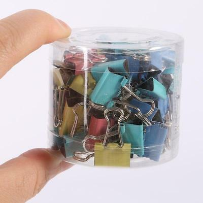 Practical 60pcs 15mm Width Office File Paper Organizer Metal Binder Clip Home