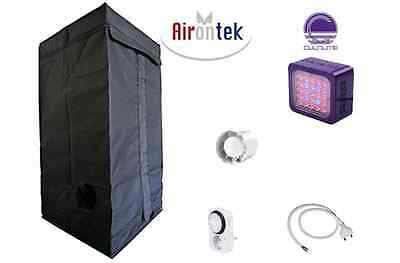 Growroom 40x40x140cm completa kit Cultilite 75W lampada LED Agro coltivazione g