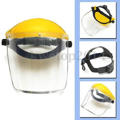 Adjustable Clear Face Visor Shield Full Safety Workwear Eye Protection Helmet