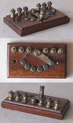 ANTIQUE GERMAN INSTRUMENT DEVICE CHANGE-OVER SWITCH / 1900s / RARITY
