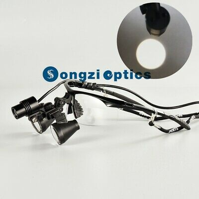 3.5X Titanium frames Binocular Dental Loupes Surgical Loupes with Headlight