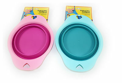 New Collapsible Pet Bowl Dog Cat Travel Camping Water Food Silicone Feeding Uk