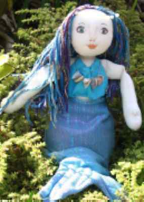 Cloth doll pattern: Shelley the Mermaid
