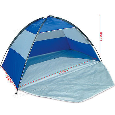New Beach Shelter UPF 40 Sun Protection Tent Red/Blue Camping Hiking Tent