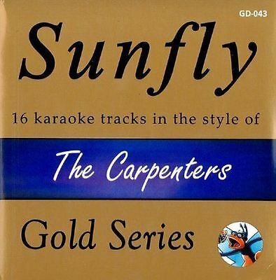 Sunfly Karaoke Gold Series The Carpenters 16 Track CD + G New Sealed