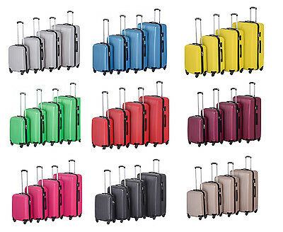 Hard Shell 4 Wheels Spinner Abs Trolley Luggage Cabin Size&checking Size Suitcas