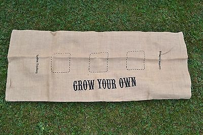 Grow Bag Cover Hessian Garden Trading Gift for Gardener