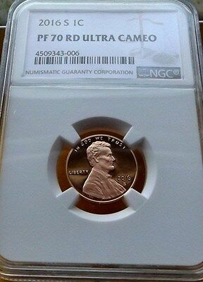 2016-S Ngc Pf70 Ultra Cameo Red Lincoln Shield Cent Penny