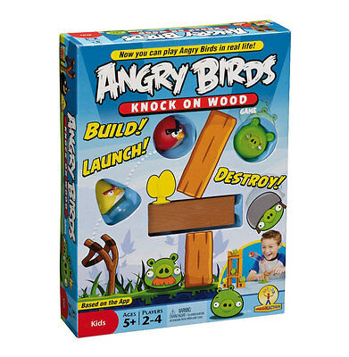 Angry Birds Knock On Wood Board Game NEW