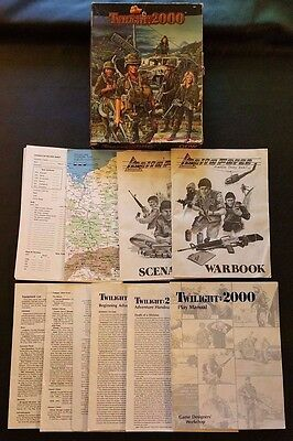 TWILIGHT: 2000 1st Edition 1984 Roleplaying Game Box Set + Delta Force GDW 500