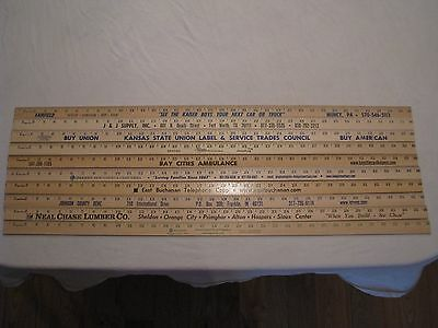 10 Yardstick Wood Wooden Ruler Lot Advertising Sign Color Art Craft Hobby