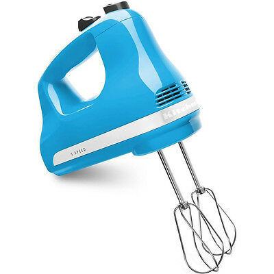 KitchenAid 5-Speed Ultra Power Hand Mixer in Crystal Blue - KHM512CL