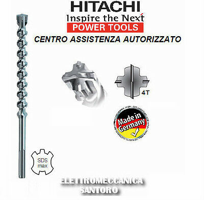 Pointe Hélicoïdale Sds Max 25 X 720 4 Pointu Hitachi pour Marteau Perforateur