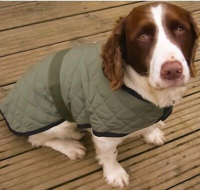 Rosewood Options All Weather 'Waterproof' Quilted Dog Coat fleece lined (S M L)