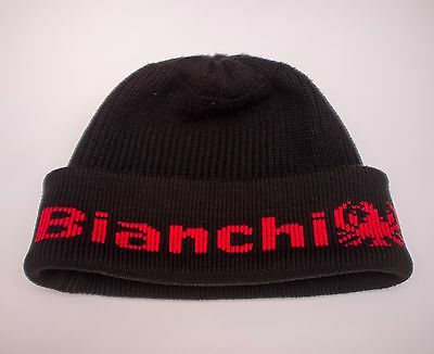 Bianchi cycle vintage knitted beanie