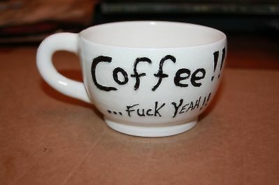 Original marked Flashkraft hand thrown coffee cup. Get excited about your coffee