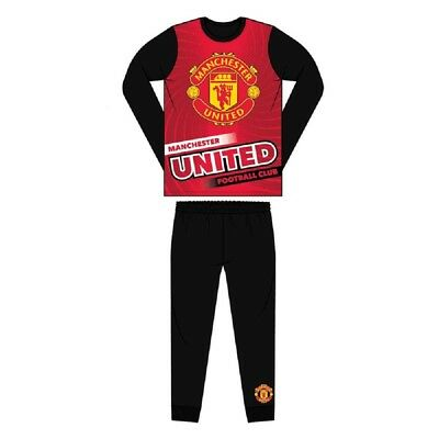 Boys Official Manchester United Manchester City FC Pyjamas Man Utd PJs Age 4-11Y