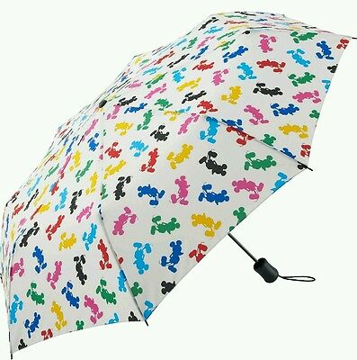 Uniqlo Mickey Mouse Silhouette Multi Color Compact umbrella Blue Yellow Black