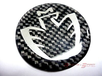 40 Mm. Gloss Real Carbon Fiber Chromed Midship Logo Horn Emblem Mr2 Spyder Mr-S