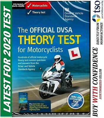 The Official DSA DVSA Theory Test DVD for Motorcyclists 2019 L Motorcycle mtrDVD