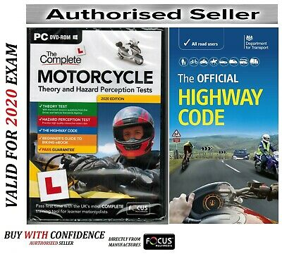 Motorcycle/Motorbike Theory & Hazard Perception Tests PC DVD HW Code Book fcMtHw