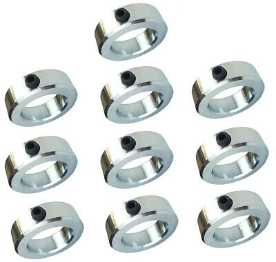 "3/8"" Bore Solid Steel Zinc Plated Shaft Collars Set Screw Style (10 PCS)"