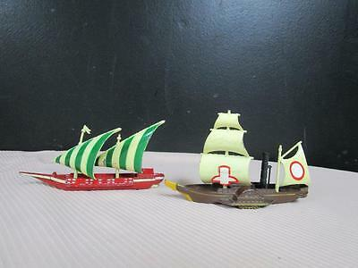 Lot of 2 Rare Pilen Made In Spain Die-cast Ships Scarce SIRIUS #761 GALERA #755.