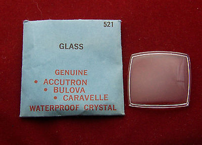 Hard to Find NOS Glass Crystal for Bulova Accutron 214 Asymmetrical Model 521