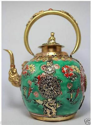 Chinese Handwork Painting Flower Porcelain Tea Pot