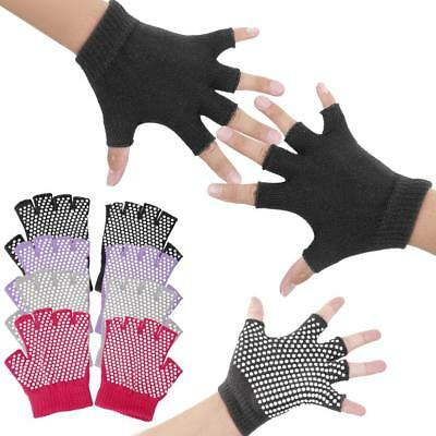 Half Finger Non-slip Gloves for Yoga Pilates Gym Fitness Body Building Training