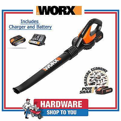 Blower WORX Cordless Blower 20V Lithium-ion Blower - With Battery and Charger
