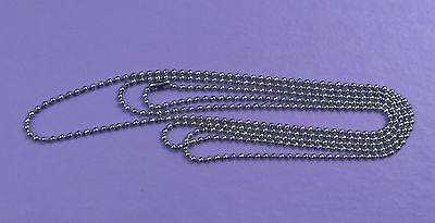 Ladies 1.5mm Stainless steel ball chain necklace 80cm won't tarnish feminine