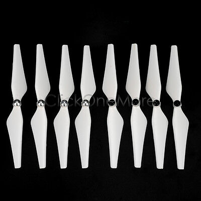8 Pcs 9450 Self Locking Enhanced White Propeller for DJI Phantom 2 3 AD Standard