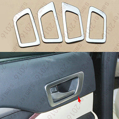 4x Chrome ABS Inner Door Handle Bowl Cover Trim for Toyota Highlander 2014-2015