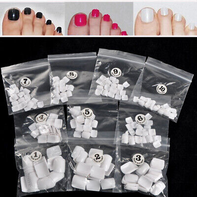 Kit de 500x Blanc Faux ongle Capsule Tips Pied Orteil French Nail Art Acrylique