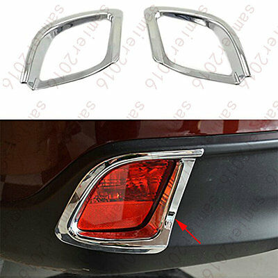 2x Chrome Rear Fog Light Lamp Cover Trim For Toyota Kluger Highlander 2014-2015