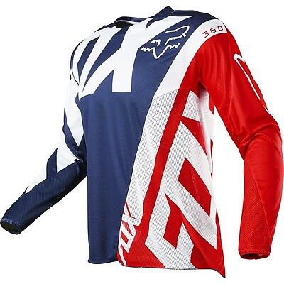 Fox 17 360 Creo LE MXON MX Jersey Navy Red Motocross Sport Dirt Bike Off Road
