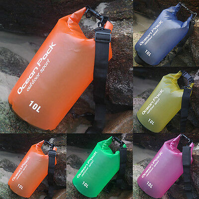 2-30L Sport Waterproof Dry Bags Backpack Pouch Floating Boating Kayaking Camping