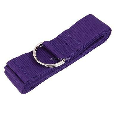 Viola cotone yoga stretching Strap D-Ring Cintura Leg Fitness Exercise