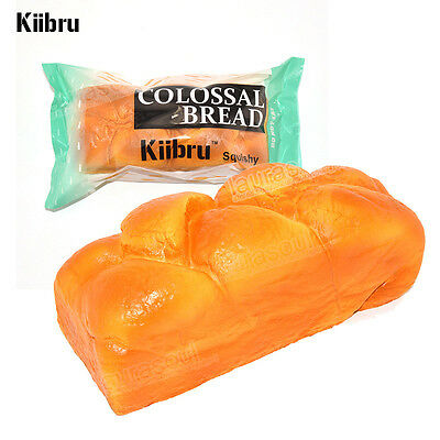 New Exclusive Kiibru Colossal Squishy Bread Super Slow Rising Kid Toy Scented