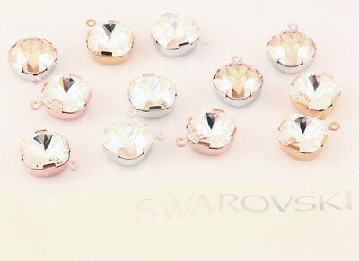 Genuine SWAROVSKI 18704 4470 Square Crystals Single Stone Settings Ring On Top