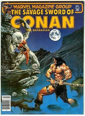 SAVAGE SWORD OF CONAN #64 (1981 near mint) John Busema + Toth+ Gil Kane's Andrax
