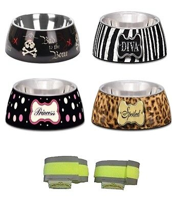 Loving Pets Milano Dog food Bowl - 4 designs - 3 sizes  - puppy feeding bowls -